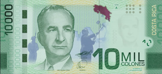 billete de diez mil colones